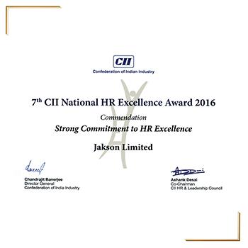 CII HR Excellence Award 2016