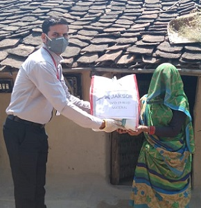 Jakson Donates Essential Food Items amidst The Covid - 19 Pandemic- Lalitpur, UP