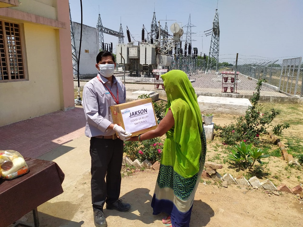 Jakson Donates Essential Food Items amidst The Covid - 19 Pandemic- Mahoba, UP