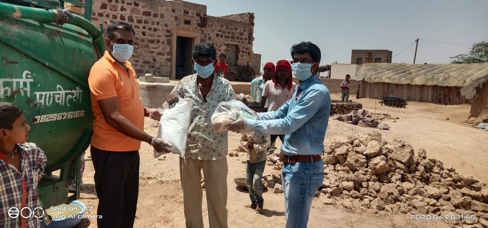 Jakson Donates Essential Food Items amidst The Covid - 19 Pandemic- Baap, Rajasthan