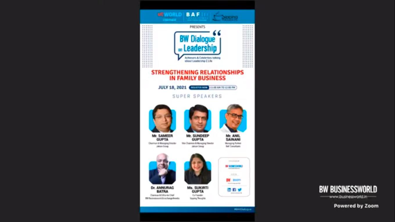 BW Dialogue On Leadership with Mr. Sameer & Sundeep Gupta