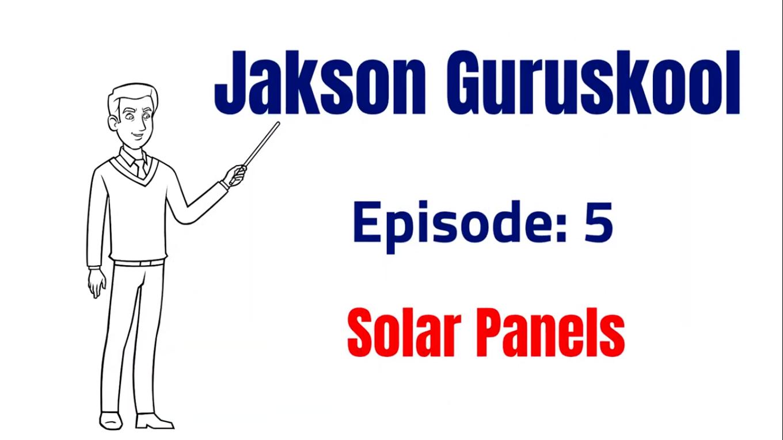 Guruskool Episode – 5 #SolarPanels #SolarPVmodules