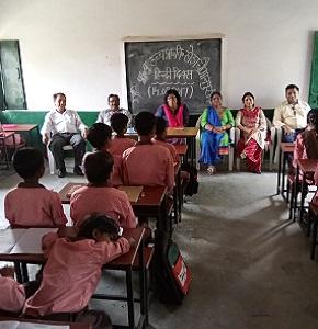 Hindi Diwas Celebration in government School Sep - 2017