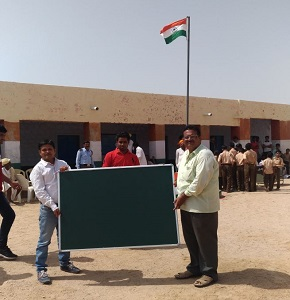 Black Board Distribution  for School at Baap Site on Independence Day Aug - 2017